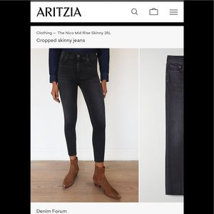 BNWT Aritzias Denim Forum Nico Skinny Crop 29